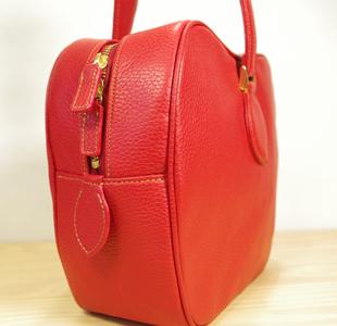 リンゴのハンドバッグ:革鞄
