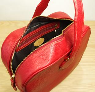 リンゴのハンドバッグ:レザーバッグ:革鞄