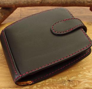二つ折り革財布:ハーフウォレット