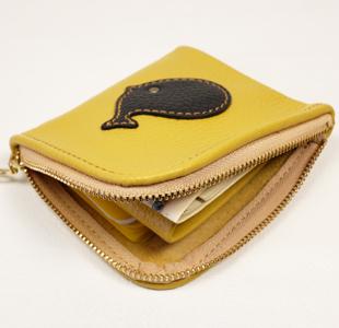 L字ファスナーミニ財布:クジラ