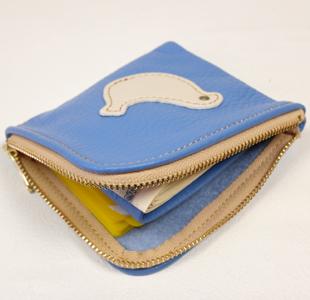 L字ファスナーミニ財布:小鳥