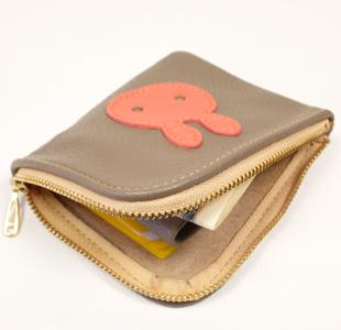 L字ファスナーミニ財布:ウサギ