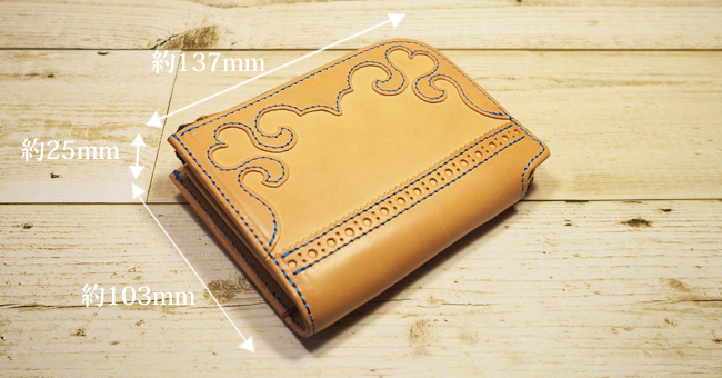 可愛いハート:Lファスナー財布:ミドルウォレット