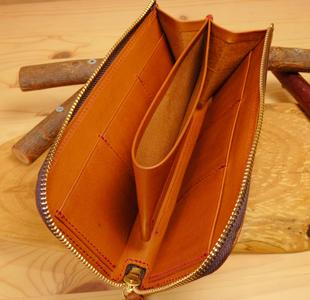 ハートのL字ファスナー長財布