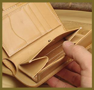 ミドルウォレット(革財布)